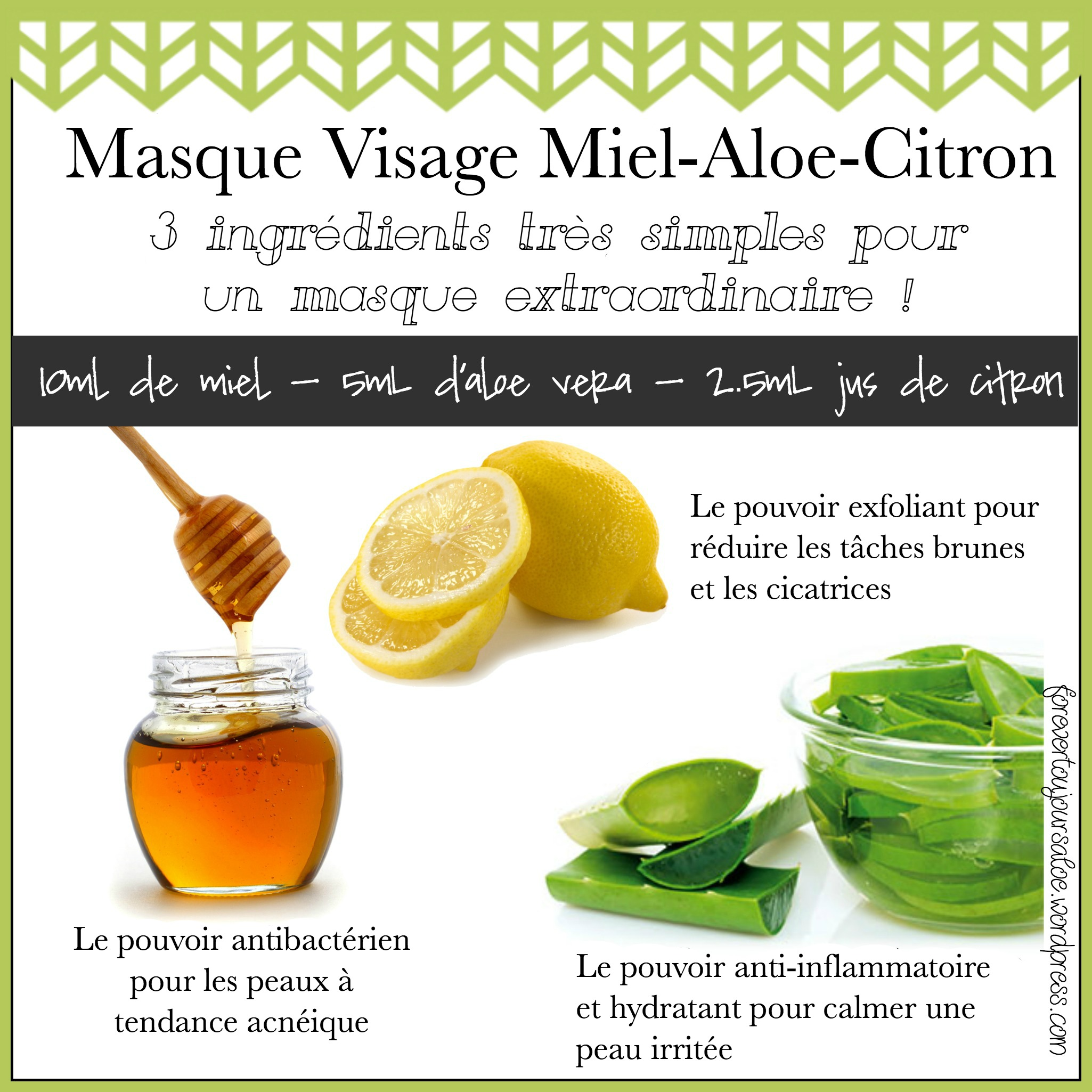 masque visage miel aloe citron forever toujours aloe. Black Bedroom Furniture Sets. Home Design Ideas